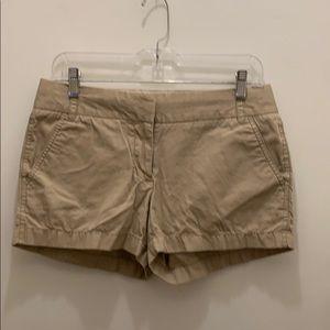 "J. Crew Factory 3"" khaki chino shorts"